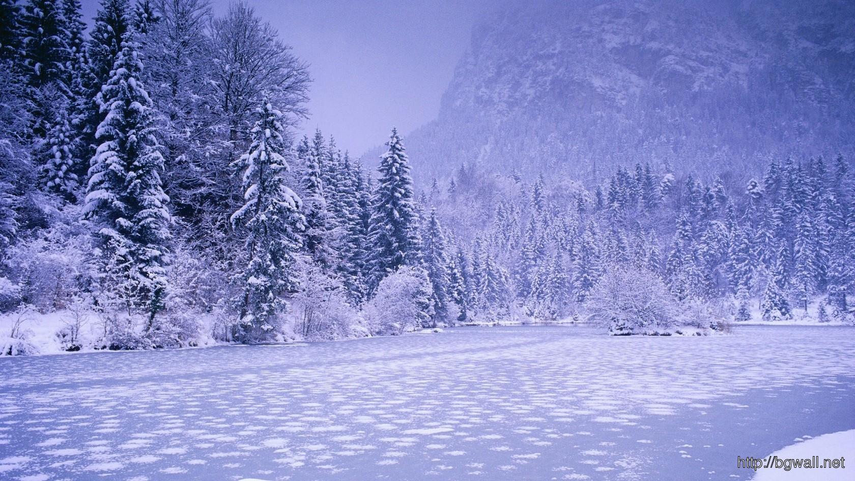 Frozen River Wallpaper 6031 Full Size