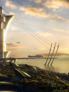 Futuristic Harbour Wallpaper 5246 Full Size