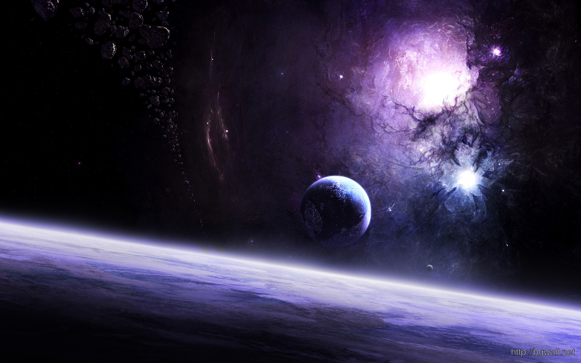 galaxies and planets wallpaper 2331 full size