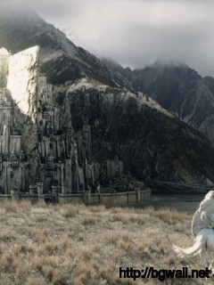Gandalf Galopping To Minas Tirith Full Size