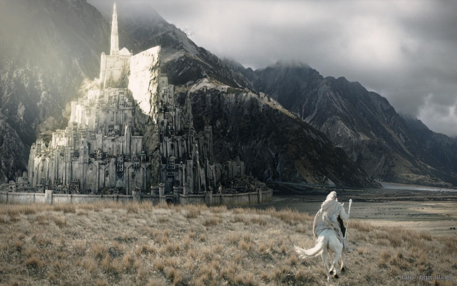 Gandalf Galopping To Minas Tirith Full Size