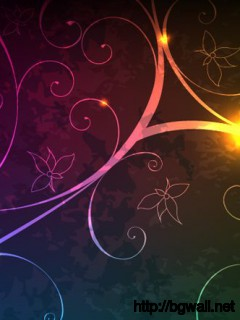 Glowing Floral Background Full Size