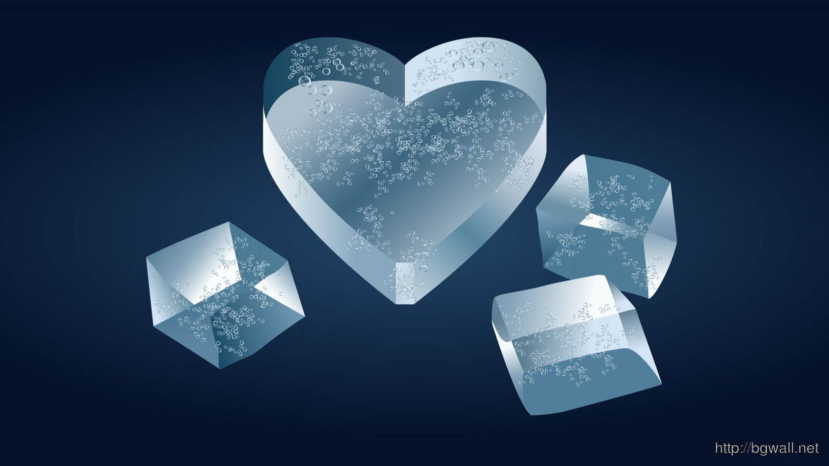 Heart Shaped Ice Cube Wallpaper 8043 Full Size