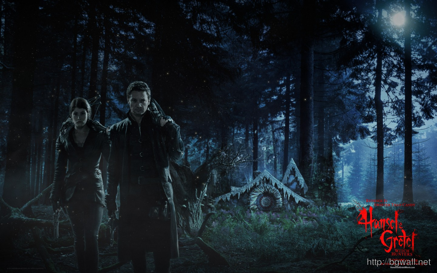 Jeremy Renner And Gemma Arterton In Hansel Gretel Witch Hunters Full Size