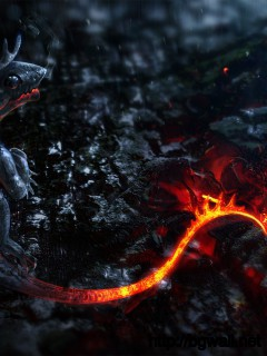 Lava Dragon Wallpaper Full Size