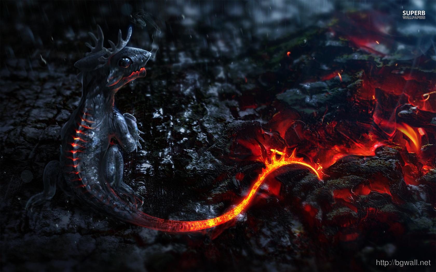 Lava Dragon Wallpaper Background HD