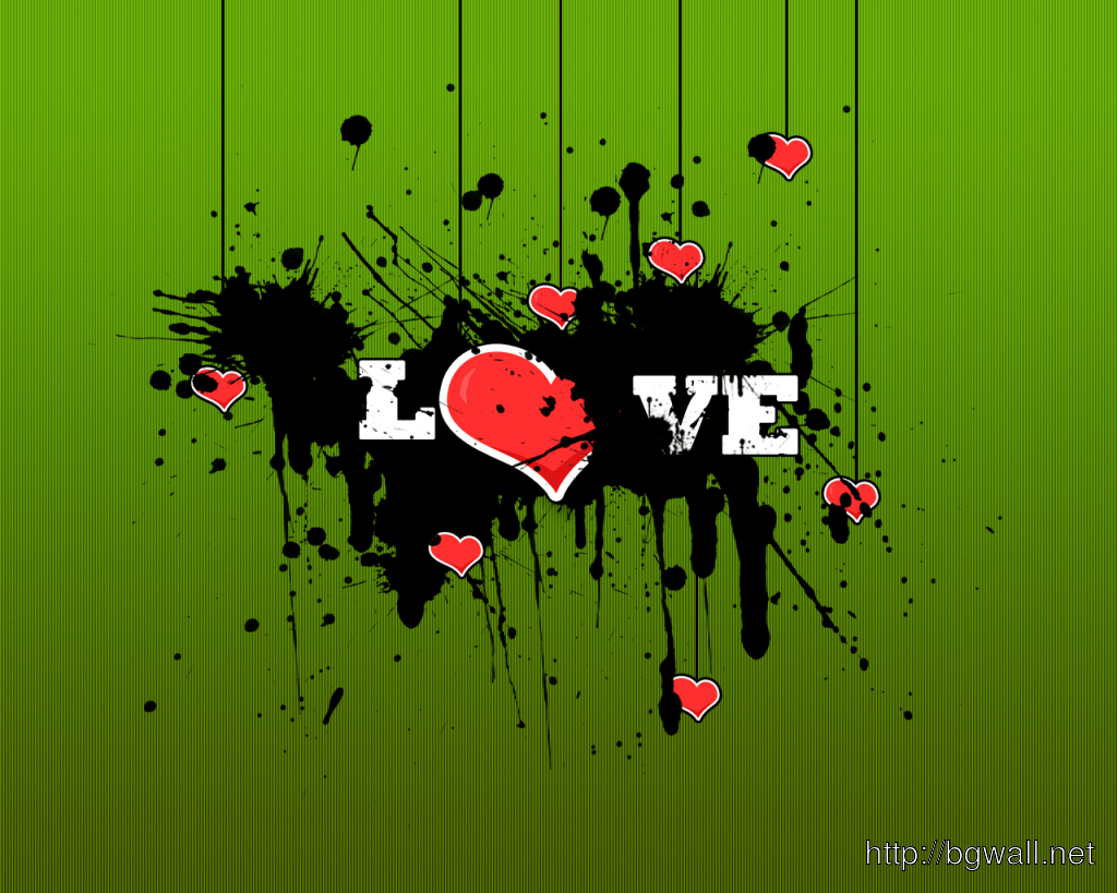 Love Abstract Green Background