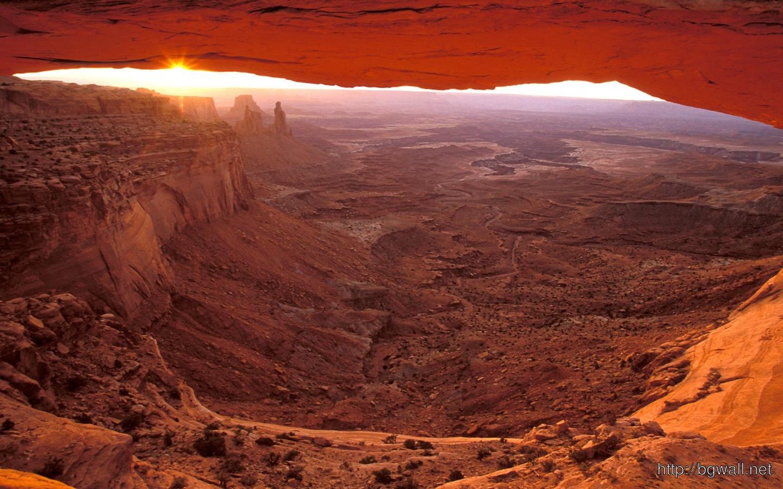 Mesa Arch At Sunrise Canyonlands National Park Full Size