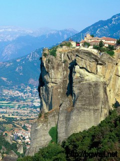 Monastery Of Agia Triada Meteora Greece Full Size