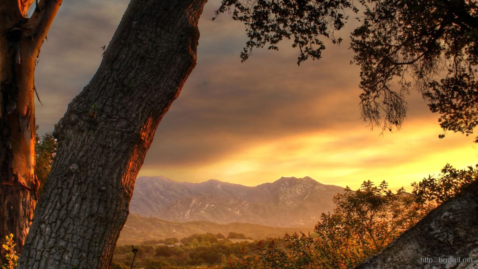 Mountain Sunset Wallpaper 2412
