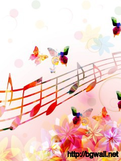Musical Notes Butterflies Wallpaper Full Size