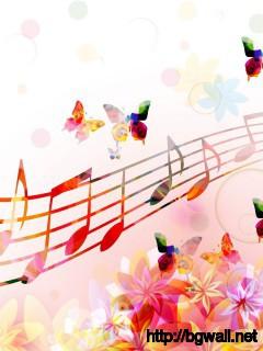 Musical Notes Butterflies Wallpaper Full Size