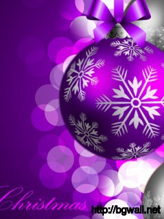 Purple Christmas Background Full Size