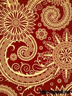 Red Swirl Pattern Full Size