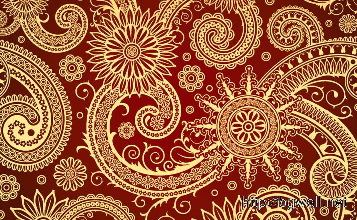Red Swirl Pattern Full Size