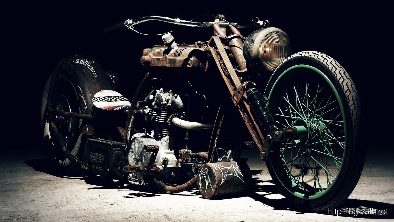 Rusty Chopper Wallpaper 9573 Full Size