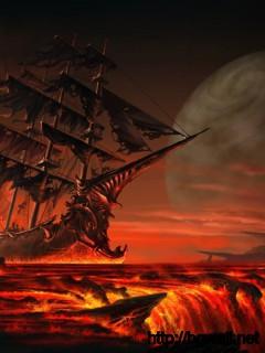 Sailing On Lava Wallpaper Full Size