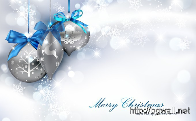 Silver Christmas Background Full Size