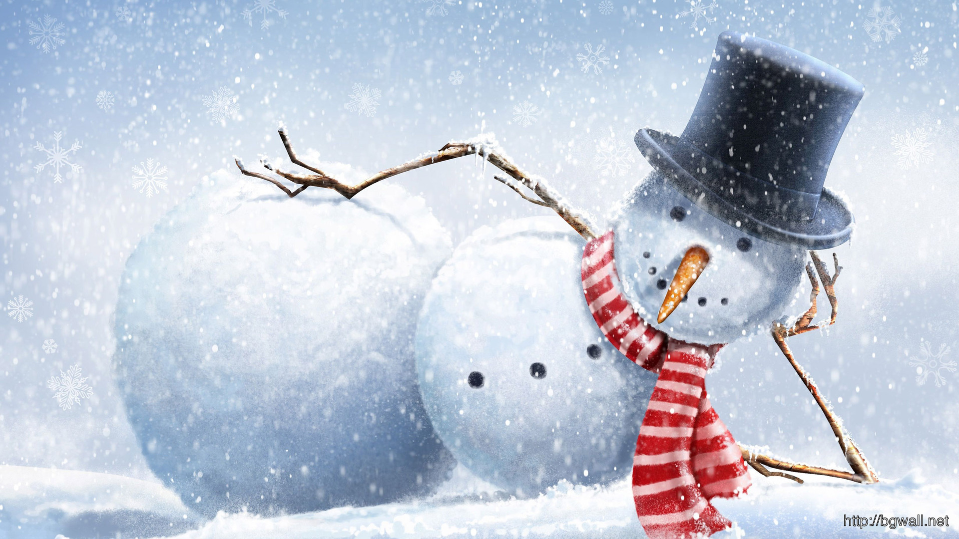 Snowman Chilling Wallpaper 16985 Full Size