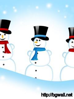 Snowmen Wallpaper Full Size