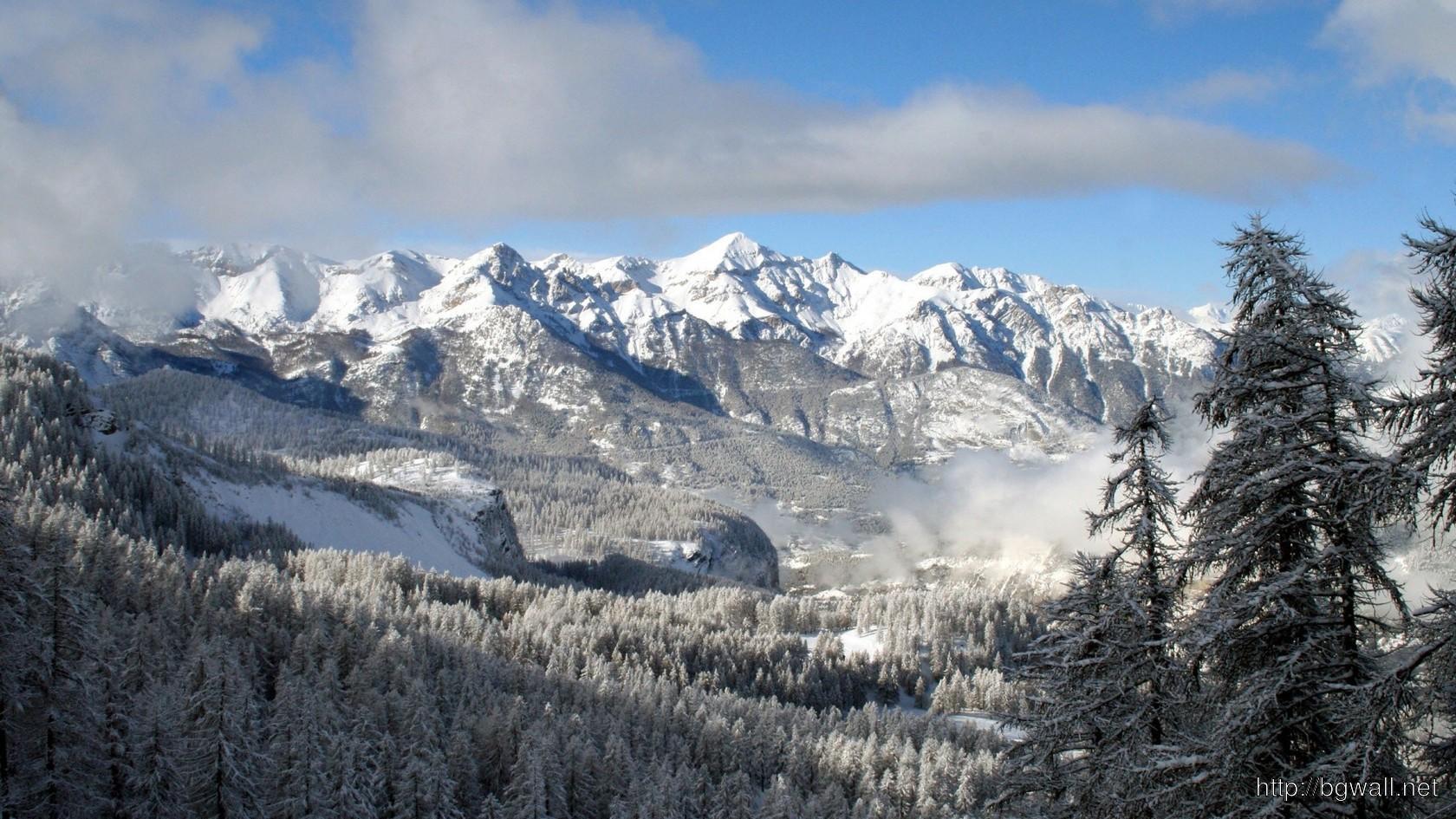 Snowy Mountains Wallpaper 3365