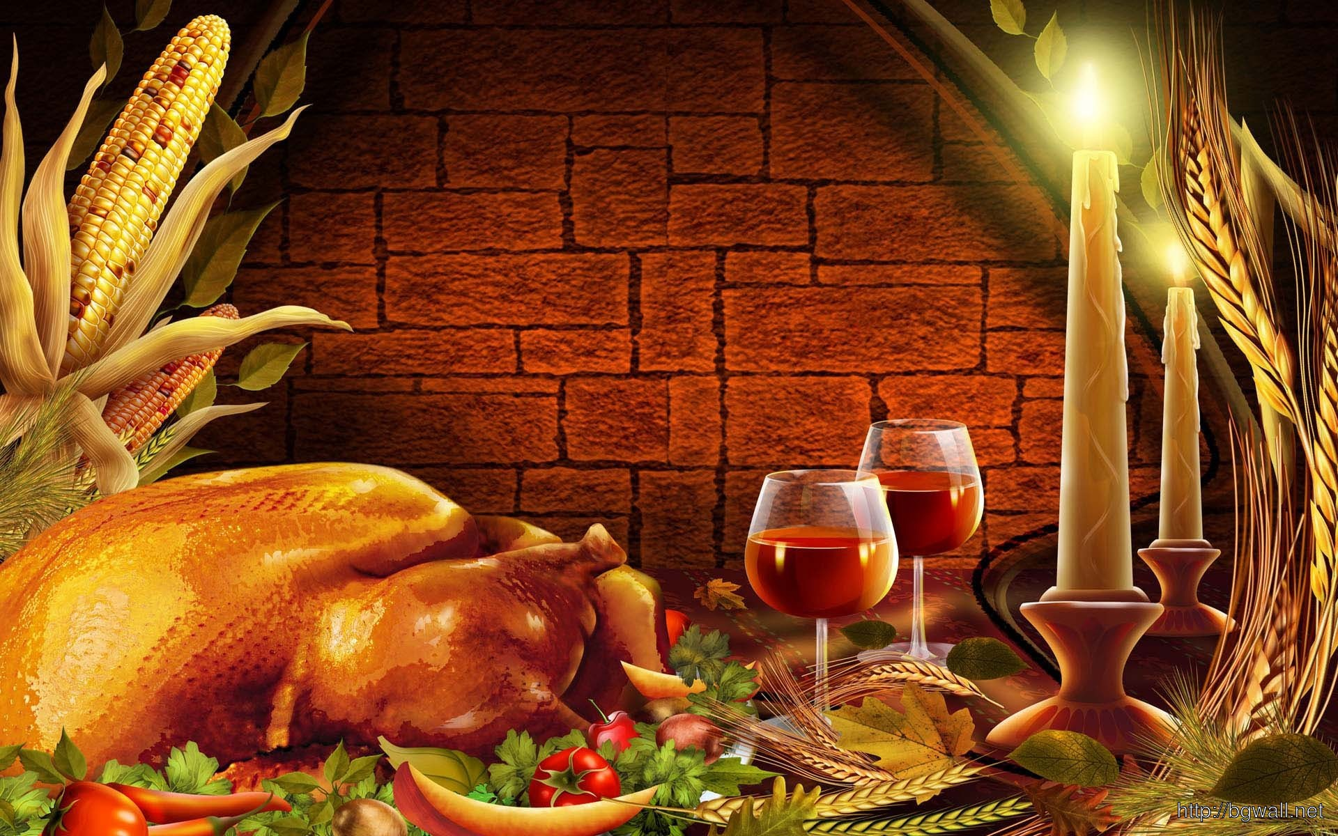 Thanksgiving Dinner Wallpaper 14065