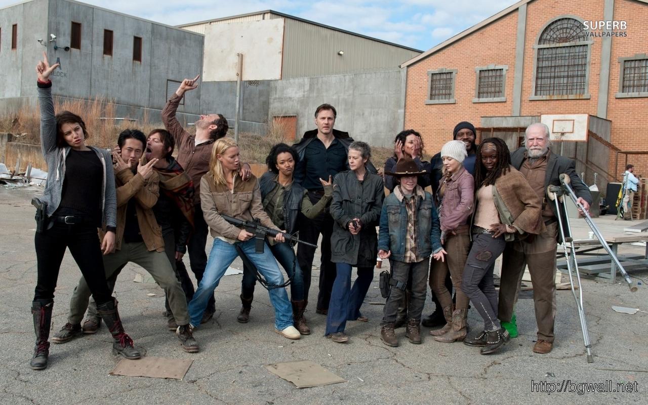 The Walking Dead Cast Wallpaper Full Size