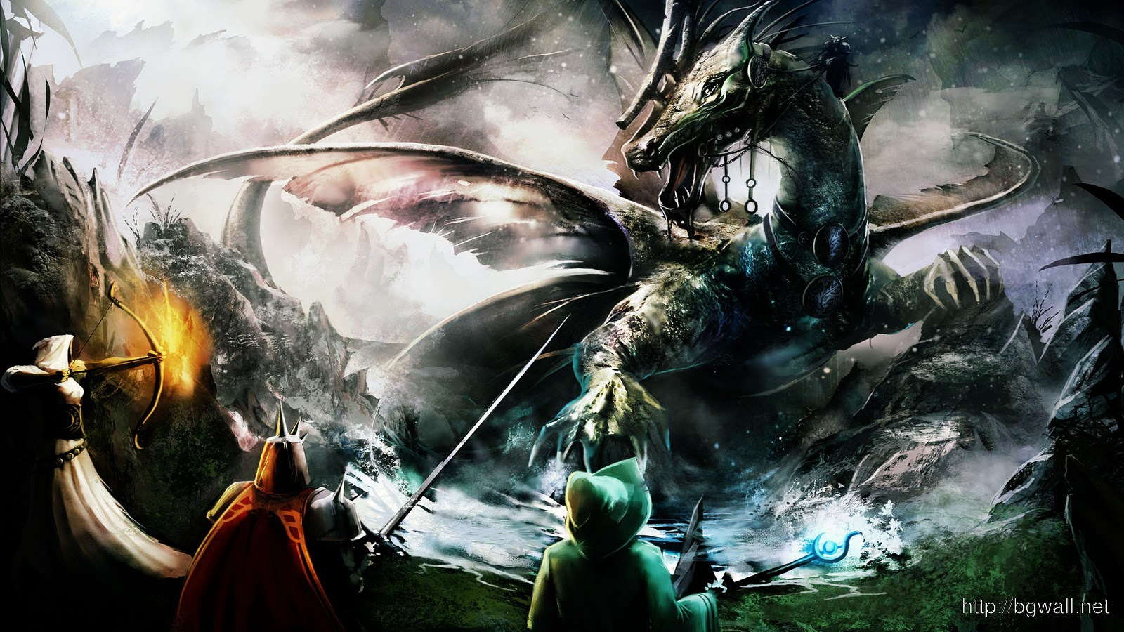 Trine Dragon Battle Hd Games Wallpapers Widescreen 1600x900 Pixel Full Size