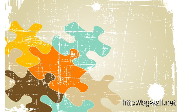 Vector Grunge Puzzle Background Full Size