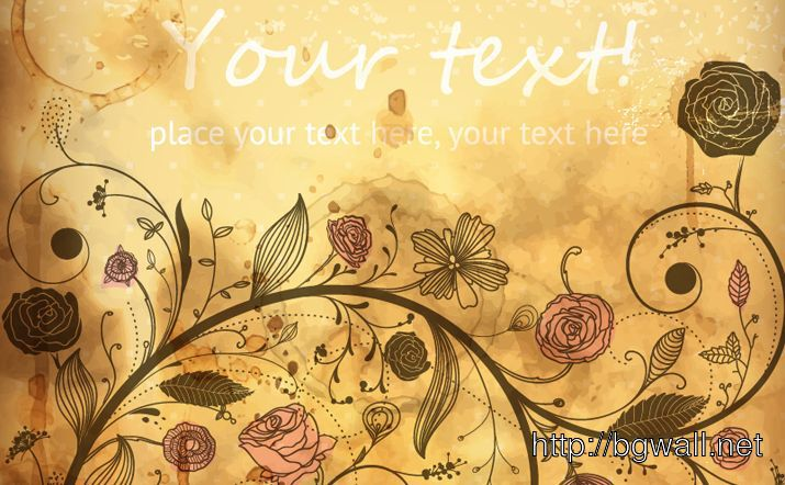 Vintage Vector Floral Background Full Size
