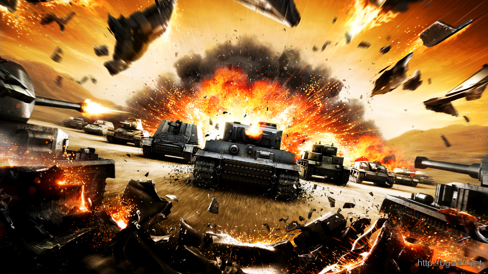 World Of Tanks Destroyed And Explosion Hd Wallpapers 1600x900 Pixel Full Size