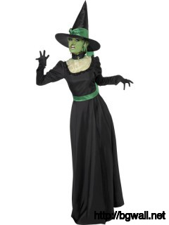 Halloween Witch Costume Green Look