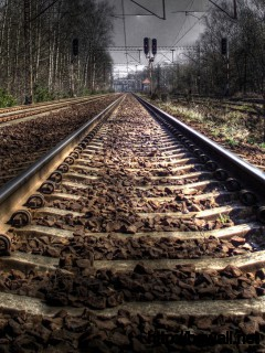 Railway Track HD Wallpaper
