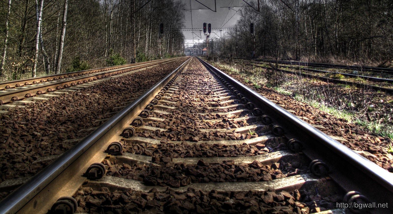 Railway Track HD Wallpaper