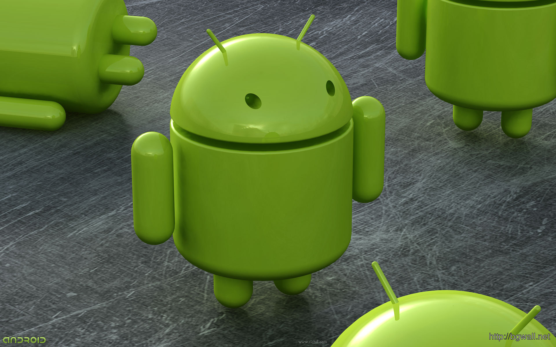 Android-Green-3D-2014-Wallpaper