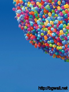 Ballons-And-House-In-UP-Wallpaper