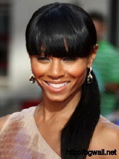 Black-Ponytail-Hairstyle-Ideas-with-Bangs