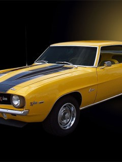 Camaro-1969-Yellow-Car-Wallpaper