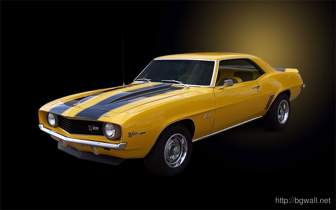 Camaro-1969-Yellow-Car-Wallpaper
