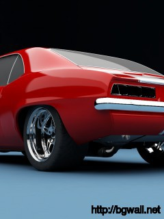Red-Camaro-1969-Muscle-Car--Wallpaper