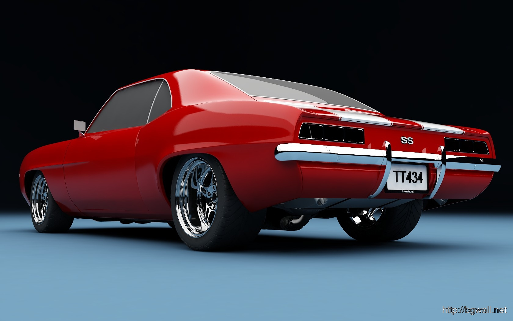 Red Camaro 1969 Muscle Car Wallpaper