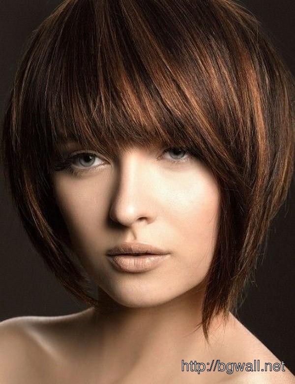 Short Black Hair Highlights Background Wallpaper Hd