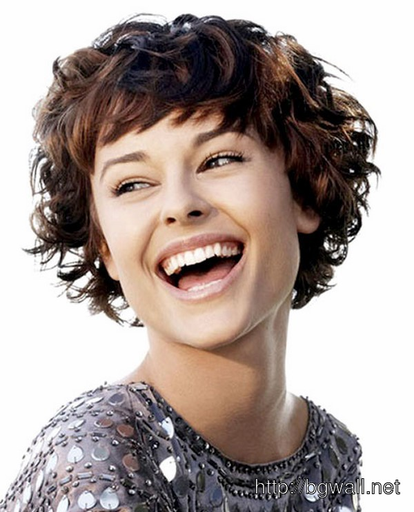 Short Hairstyle Ideas For Curly Hair With Bangs – Background ...