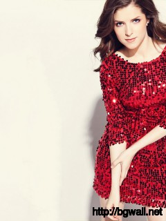 Anna Kendrick in Red Dress Wallpaper