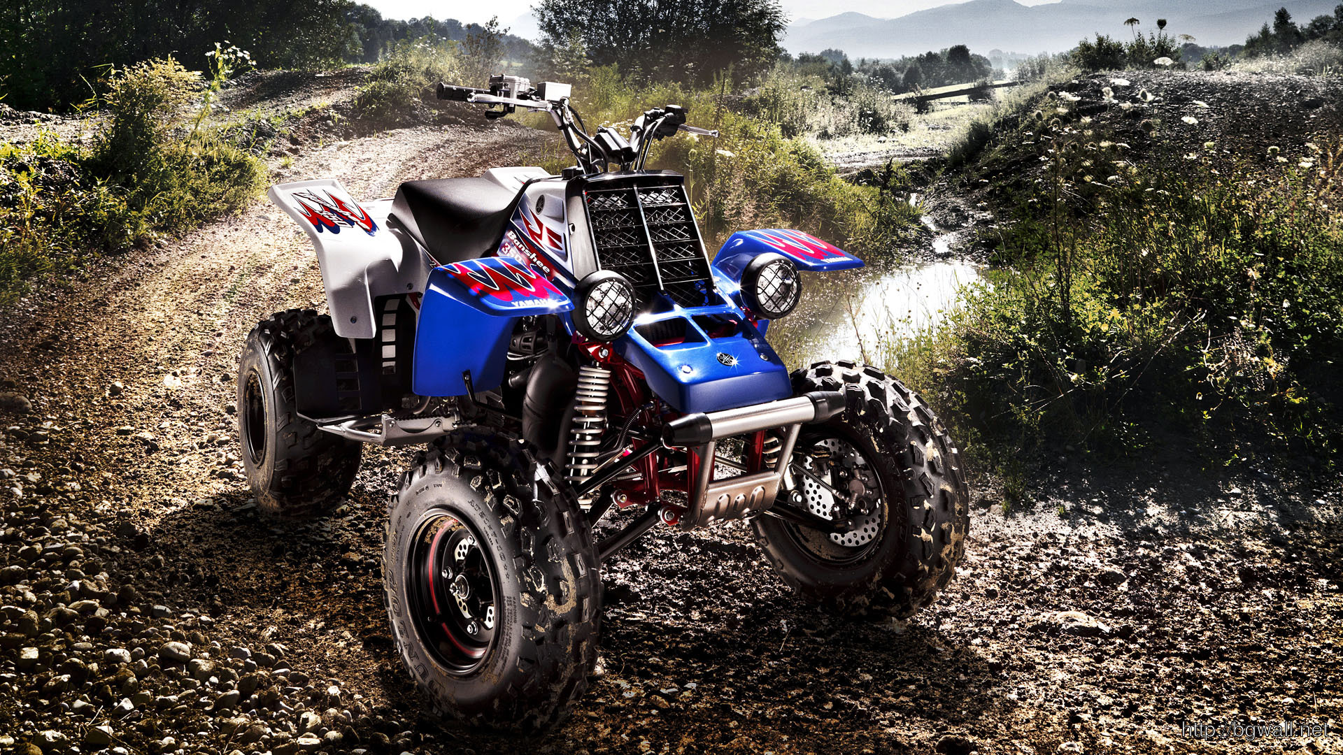 dirtbike yamaha banshee wallpaper
