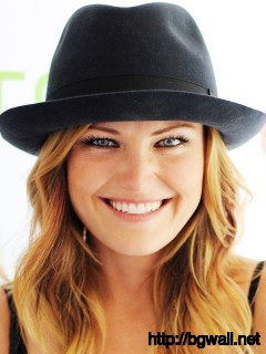 malin akerman with black hat on top wallpaper
