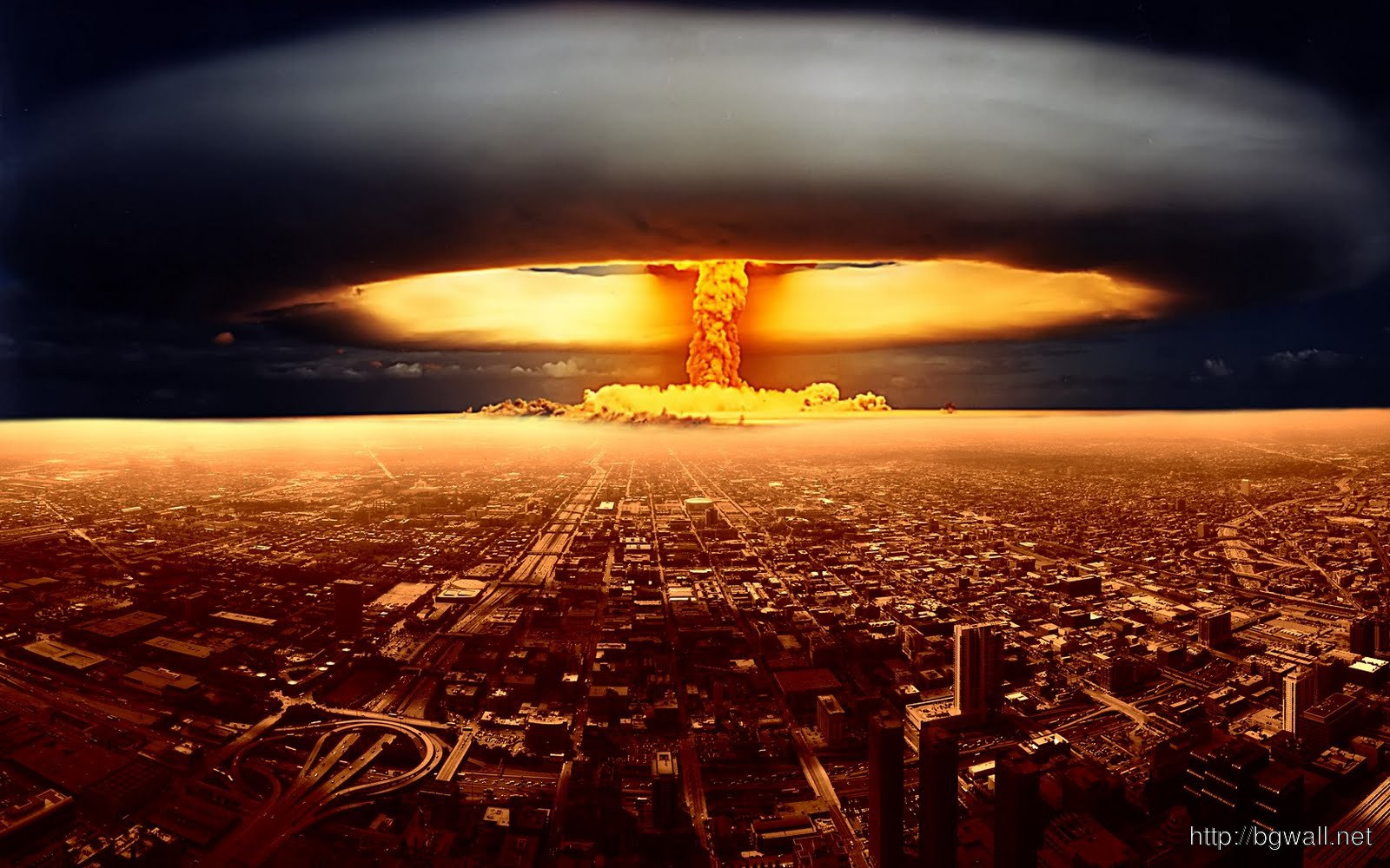 Nuclear Explosion Background Wallpaper