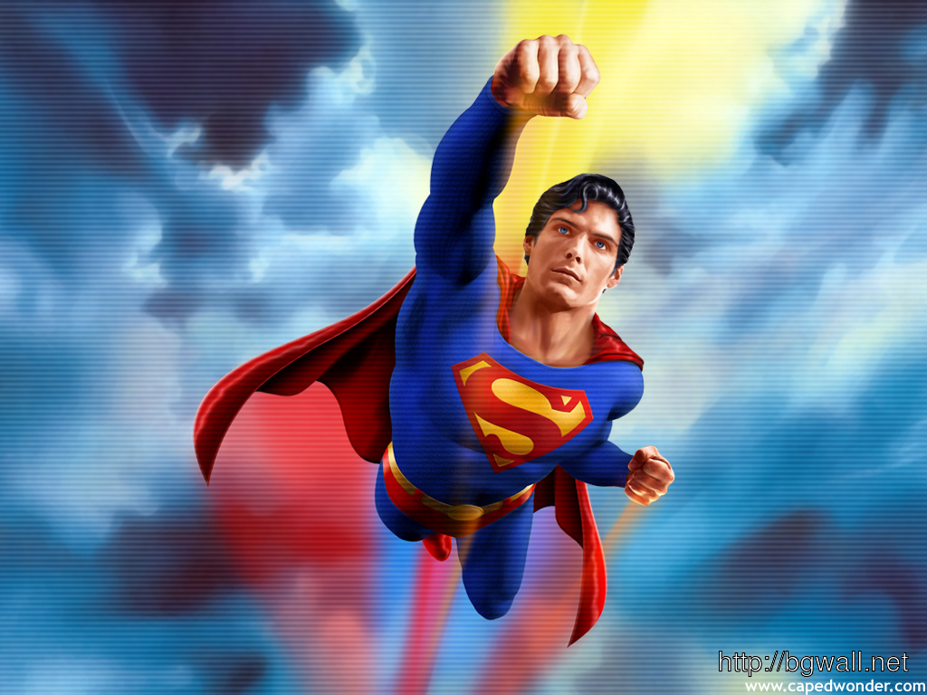 Superman animated abstract wallpaper