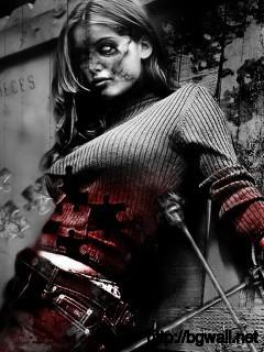 terror girl wallpaper