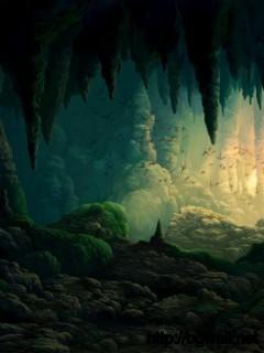 3d-cave-with-bats-wallpaper-image